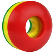 Blank Wheel - 50mm Rasta Tri-Color Set of 4