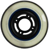 Inline Wheel - Black/Clear 76mm 80A 4-Spoke
