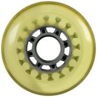Inline Wheel - Grey/Yellowed 76mm 78A 8-Spoke