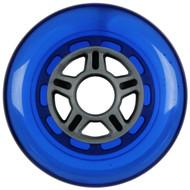 100mm 88a Scooter Wheel Silver/Blue 5 Spoke Hub