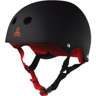 Triple 8 Helmet Sweatsaver Black Rubber/Red XL