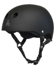 Triple 8 Helmet Sweatsaver All Black Rubber XS