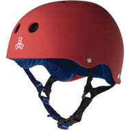 Triple 8 Helmet Sweatsaver United Red Rubber XL