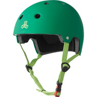 Triple 8 Helmet Dual Certified Kelly Green Rubber L/XL