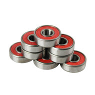 Bullseye Bearings - Abec 9 Red Shields - Tube of 8