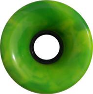 Longboard Wheel - 70mm 78a Offset Swirl Yellow/Green
