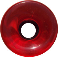 Longboard Wheel - 76mm 78a Offset Translucent Red
