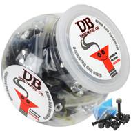 """Dime Bag Hardware - 50 sets 1 1/2"""" Phillips Black"""