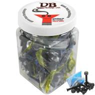 """Dime Bag Hardware - 25 sets 1 1/2"""" Phillips Black"""
