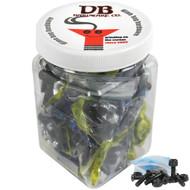 """Dime Bag Hardware - 25 sets 7/8"""" Phillips Black"""