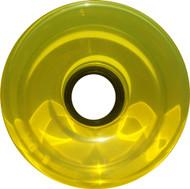 Longboard Wheel - 76mm 78a Offset Translucent Yellow