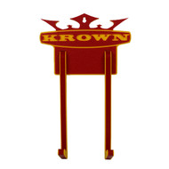 Krown Complete Skateboard Wall Mount Rack Red/Yellow