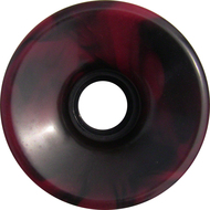 Longboard Wheel - 76mm 78a Offset Swirl Red/Black