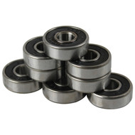 Bullseye Bearings - Abec 7 Black Shields - Tube of 8