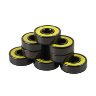 Bullseye Bearings - Abec 7 Yellow Shields - Tube of 8