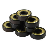 Bullseye Bearings - Abec 7 Gold Shields - Tube of 8