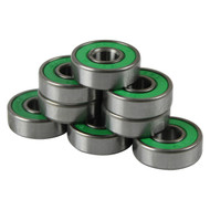 Bullseye Bearings - Abec 7 Green Shields - Tube of 8