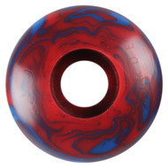 Blank Wheel - 52mm Blue/Red Swirl (Set of 4)