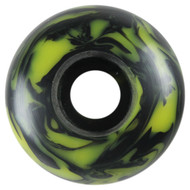 Blank Wheel - 53mm Black/Yellow Swirl (Set of 4)