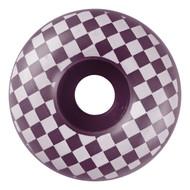Graphic Wheel - 58mm Checkered Eggplant/White (Set of 4)