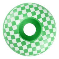 Graphic Wheel - 52mm Checkered Green/White (Set of 4)