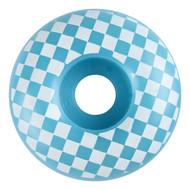 Graphic Wheel - 52mm Checkered Light Blue/White (Set of 4)