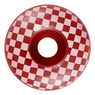 Graphic Wheel - 52mm Checkered Red/White (Set of 4)