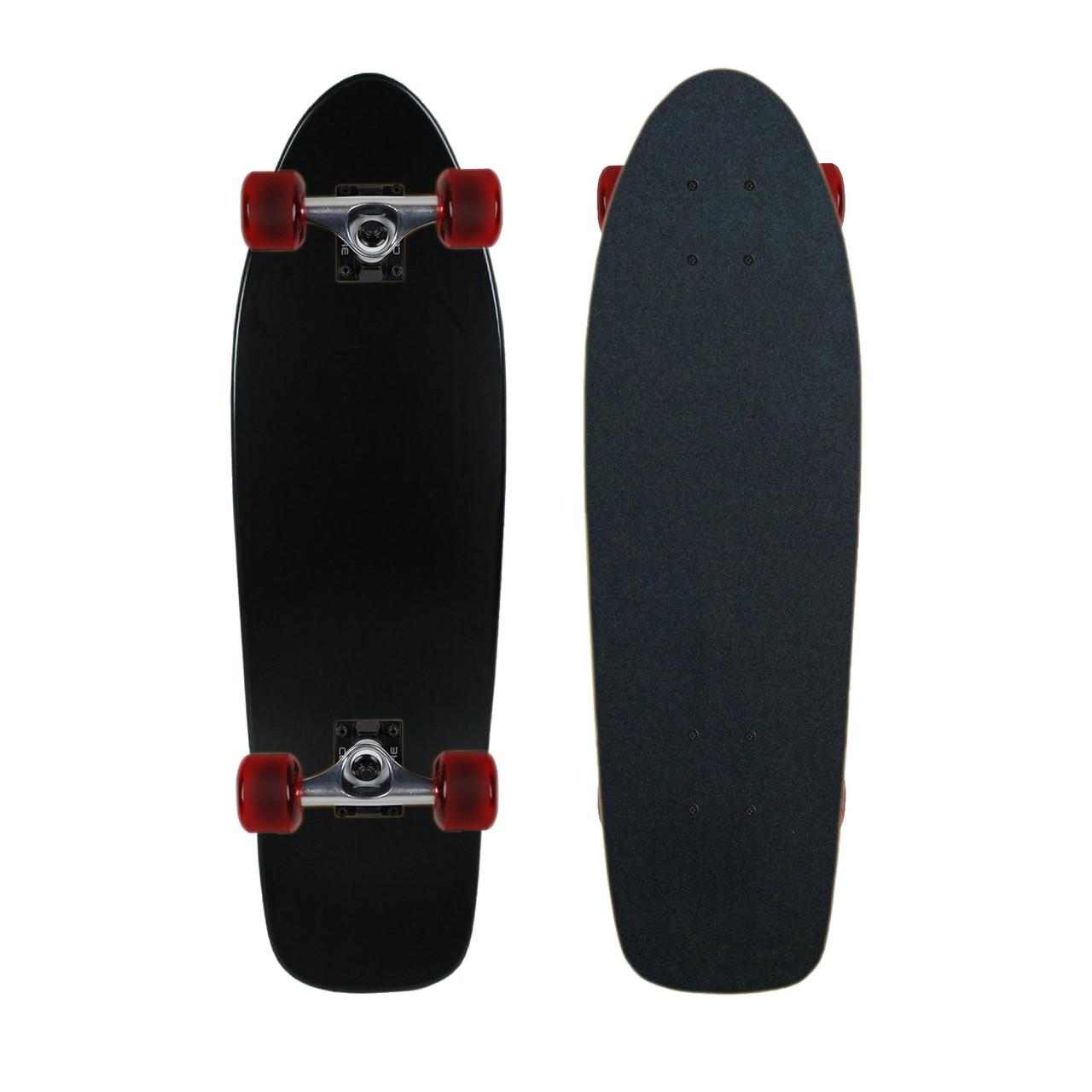 "Moose Complete Skateboard DIPPED BLACK 8.0/"" Black//Black"