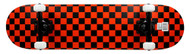 "Krown Black/Red Checker 7.75"" Complete Skateboard Case of 4"