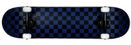 "Krown Black/Blue Checker 7.75"" Complete Skateboard Case of 4"