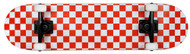 "Krown White/Red Checker 7.75"" Complete Skateboard Case of 4"