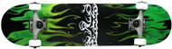 Krown Green Flame Complete Skateboard Case of 4