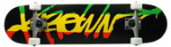 Krown Rasta Script Skateboard Complete Case of 4