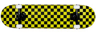 "Krown Black/Yellow Checker 7.75"" Complete Skateboard Case of 4"