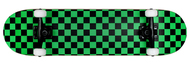 "Krown Complete Rookie Black/Green Checker 7.75"""