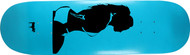 "Moose Deck Girl Silhouette Blue 8.5"""