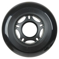 Inline Wheel 76mm x 24mm Black