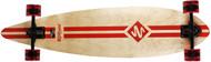 "Street Surfing Longboard 40"" Pintail Retro Stripe Red"