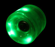 LED Wheel 60mm Green (Set of 4)