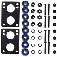 "Hardware Kit - 1.5"" Hardware, Abec 5 Bearings, 1/4"" Risers, Axle Nuts, Spacers, Washers"