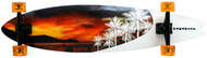 "Paradise Longboard 39.5"" Fish Shape Sunset"