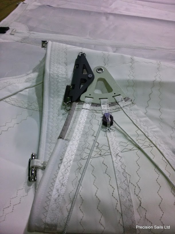 Over-the-head configuration of a mainsail