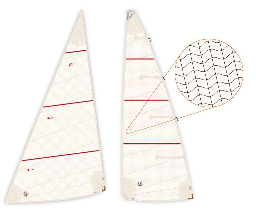 Crosscut Sail Diagram