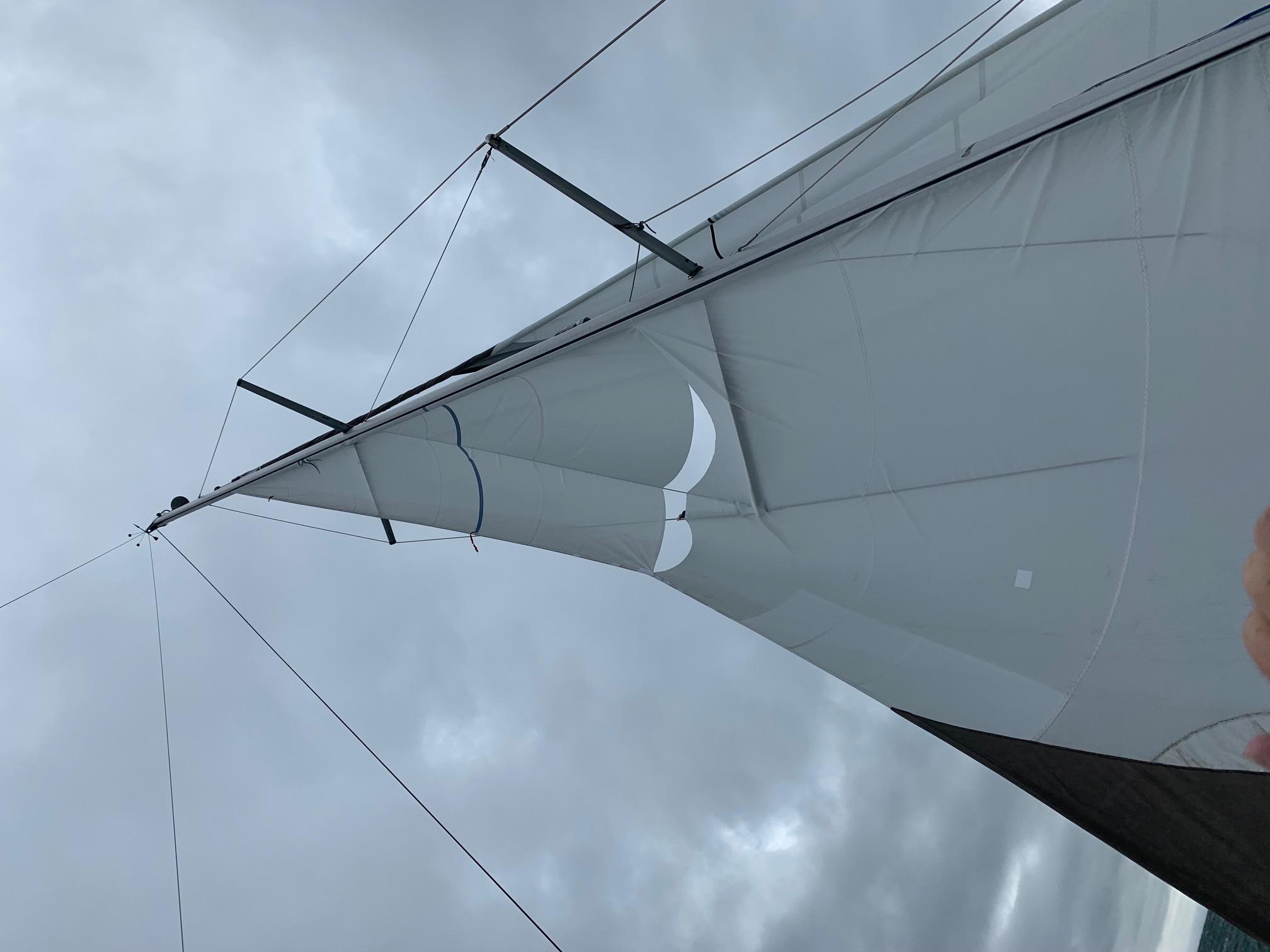Jeanneau 379 Sun Odyssey Sailboat blown mainsail