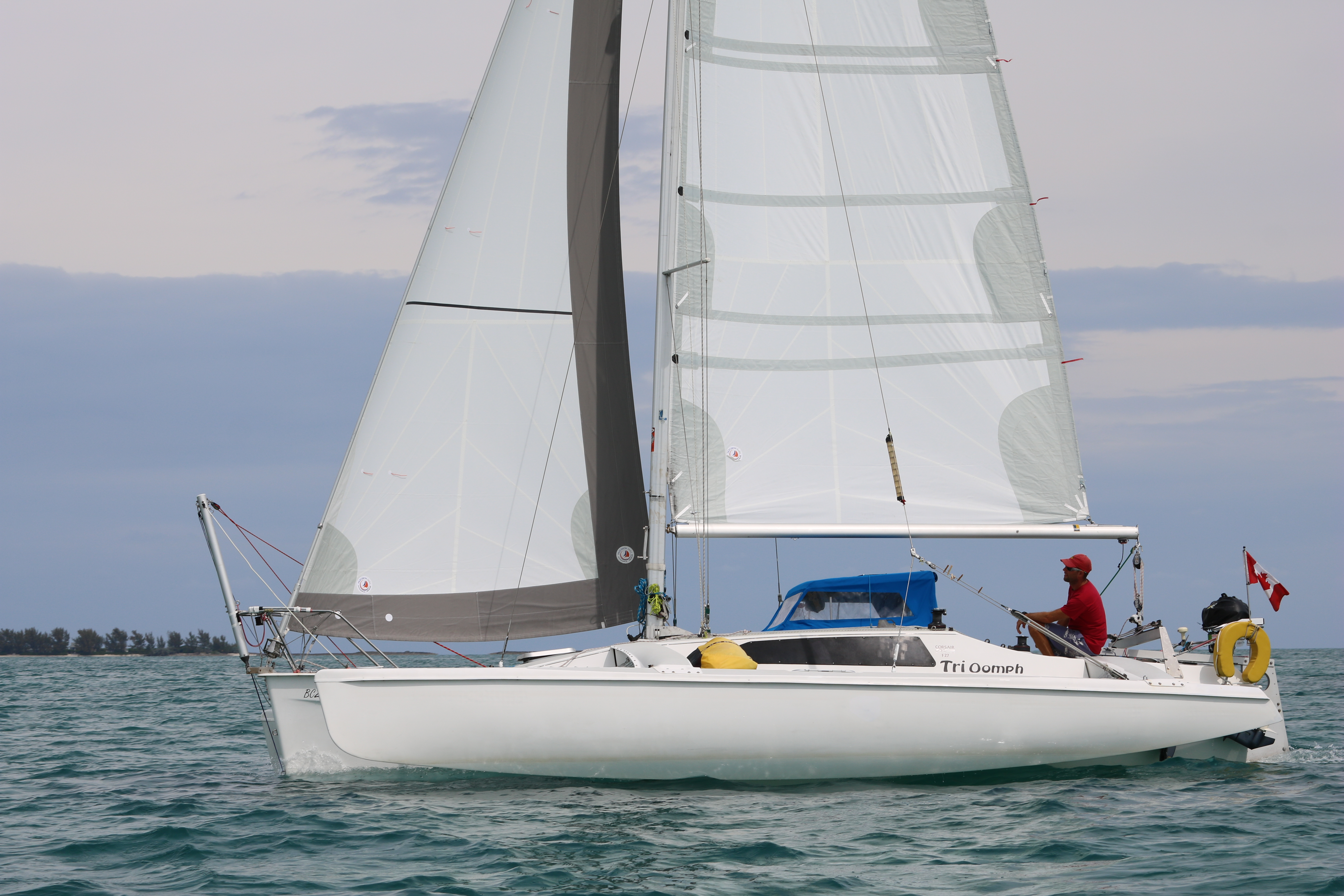 trioomph with sails