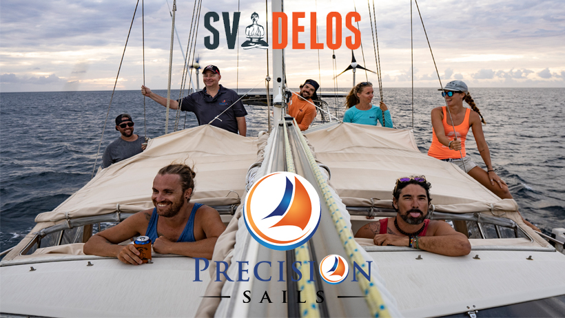 SV Delos with Precision Sails