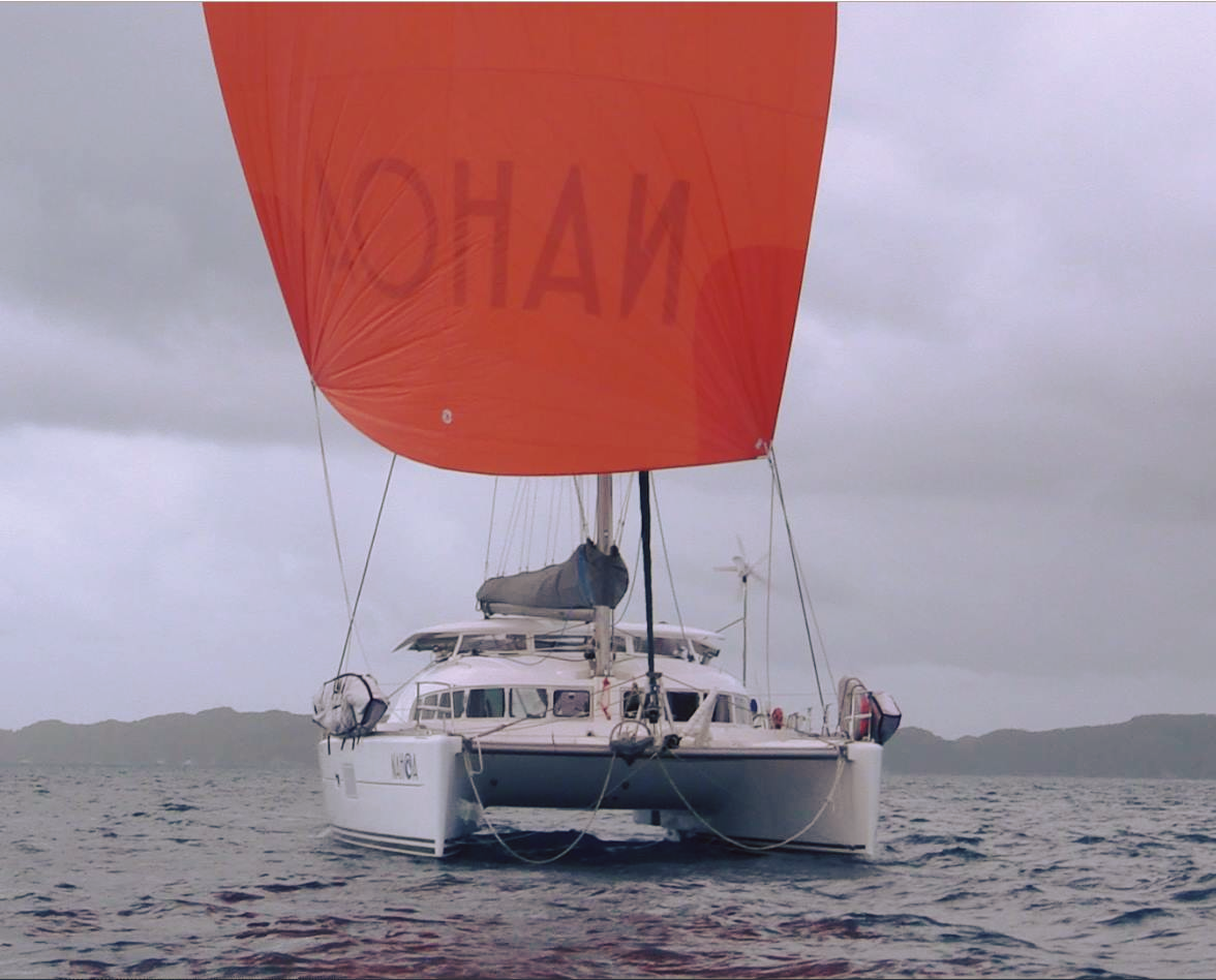 Nahoa's new Spinnaker from precision sails
