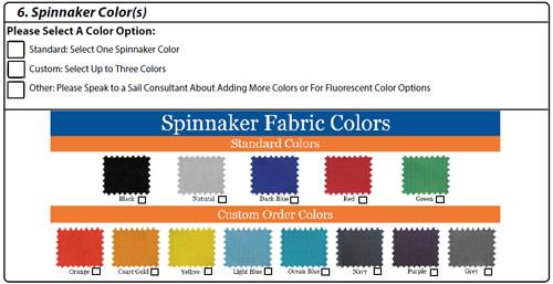 spinnaker colors mj sailing