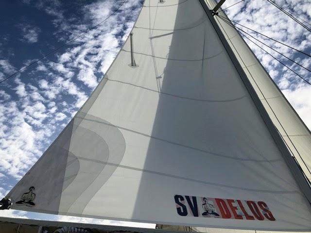 SV Delos Crosscut Mainsail by Precision Sails