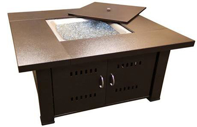 Phat Tommy Fire Pit with Lid in Hammered Bronze Finish – for Backyard, Garden and Patio & Deck